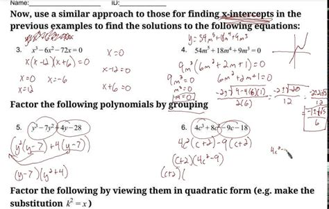 solving polynomial equations by factoring worksheet the