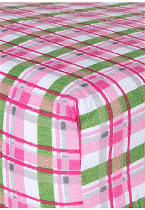 trend lab pink plaid flannel fitted crib sheet belk