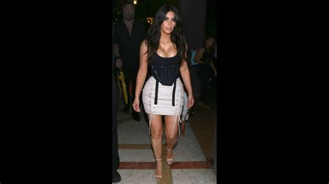 Kim Kardashian Shows Off Itty-bitty Waist In Corset And