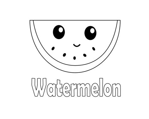 cute watermelon coloring pages  coloring pages