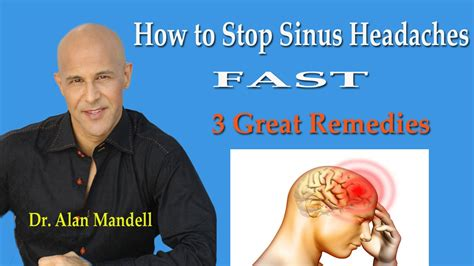 How To Stop Sinus Headaches Fast (3 Great Remedies) Dr