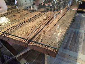 Esstisch Aus Altholz : esstisch tischplatte aus altholz mit glasplatte tisch massivholz im landhausstil l nge 240 cm ~ Frokenaadalensverden.com Haus und Dekorationen