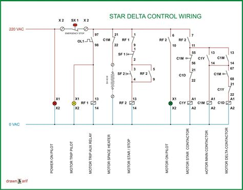 Star Delta Wiring Diagram Refrigeration Air Conditioning