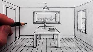 How to Draw a Room in 1-Point Perspective for Beginners ...
