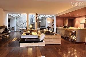 Mur Brique Salon : mur de brique et parquet brun c0021 mires paris ~ Zukunftsfamilie.com Idées de Décoration