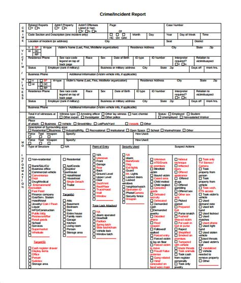 free crime reports crime report template 11 documents in pdf and word
