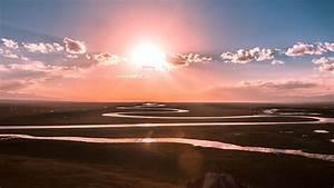 np42-praries-sunset-sky-river-nature-wallpaper