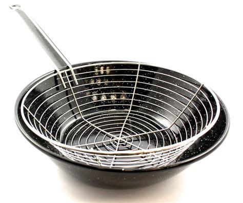 frying basket pan spanish deep pans paella cooking thetapaslunchcompany