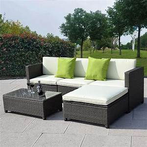 Rattan Lounge Set : outdoor patio wicker sofa set 5pc pe rattan ~ Orissabook.com Haus und Dekorationen