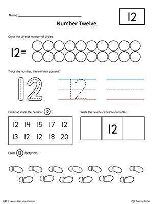 number 12 practice worksheet myteachingstation com