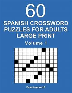 Spanish Crossword Puzzles For Adults Large Print