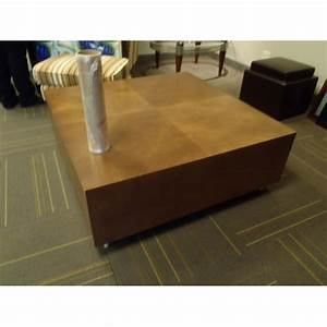 large thick wood square coffee table 48x48quot allsoldca With thick wood coffee table