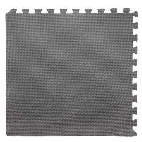 foam tile flooring home depot stalwart black 24 in x 24 in x 0 375 in interlocking