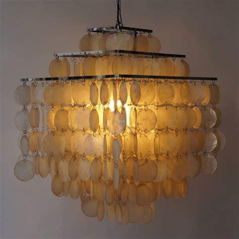 capiz shell chandelier by verner panton at 1stdibs