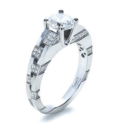 custom contemporary diamond engagement ring 1218 seattle bellevue joseph jewelry