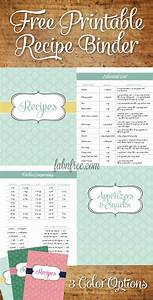 5 best images of free printable recipe binder templates for Free recipe templates for binders