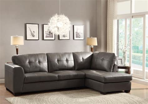 grey leather chaise sofa luxurious leather gray grey sofa chaise sectional living