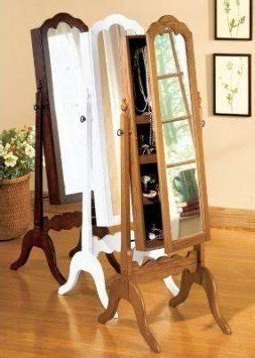 standing jewelry armoire  mirror foter