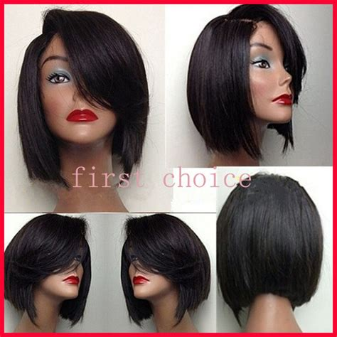 top quality short bob style hair lace front wigs synthetic