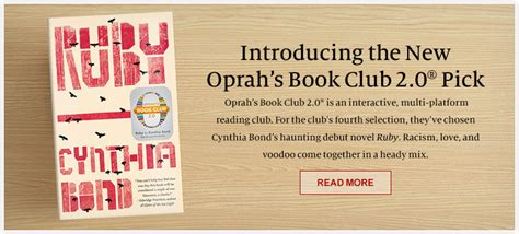 Barnes And Noble Book Club Picks by Books Oprah S Book Club 2 0 174 Oprah Book Club Picks
