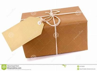 Parcel Package Label Blank Paper Brown Copy