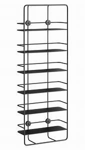 Bibliothèque Peu Profonde : etag re coup verticale m tal l 37 x h 103 cm noir ~ Premium-room.com Idées de Décoration