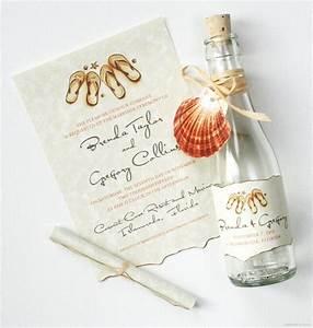 21 bottle beach wedding invitation ideas mospens studio With wedding invitations for beach weddings ideas