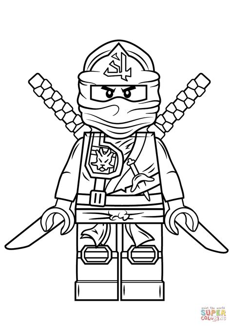 lego ninjago green ninja super coloring kids stuff