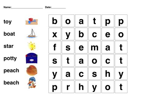 kindergarten word search puzzles printable worksheets for