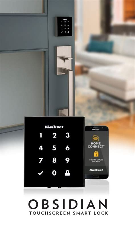 obsidian touchscreen smart lock features  sleek