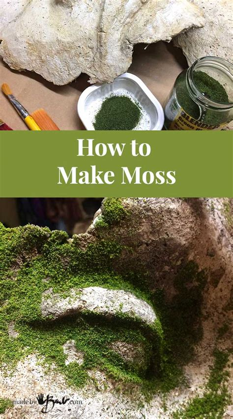 How To Make Moss  Madebybarb  Easy Method To Add Realistic Green Moss To Concrete