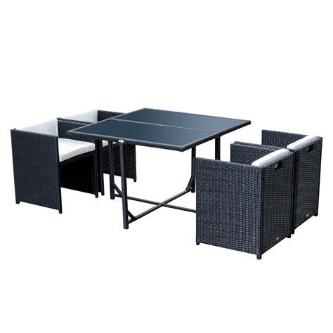 set in rattan da giardino outsunny set mobili da giardino in pe rattan tavolo da
