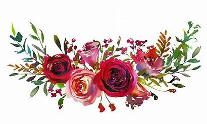 Roses Coral Watercolor Floral Invitation Landscape Frame
