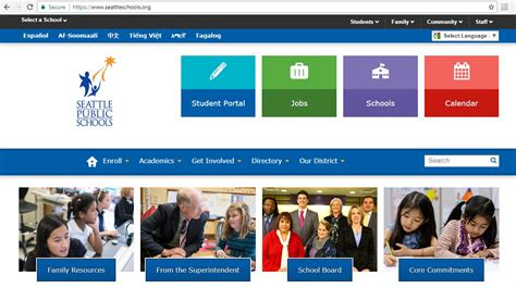 redesigned seattle public schools websites launch garfield high