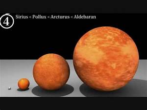 star and planet sizes - smallest to largest - YouTube