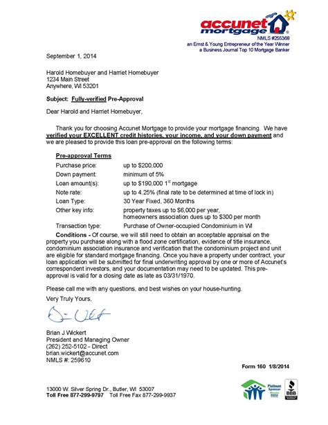 pre approval letter why get a rock solid pre approval accunet mortgage 34549