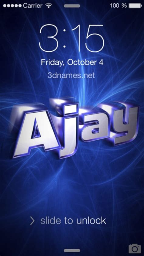 Ajay 3d Name Wallpapers Animations - preview of plasma for name ajay