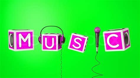 word   microphone headphones  bassboxes