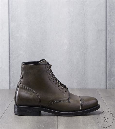 Viberg Shelby Sharp Brogue Boot - 2030 - Dainite - Asphalt ...