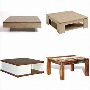 Table Basse Carrée En Bois : table basse carr e en bois comparer les prix avec le ~ Teatrodelosmanantiales.com Idées de Décoration