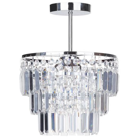 semi flush bathroom chandelier vasca crystal bar chrome