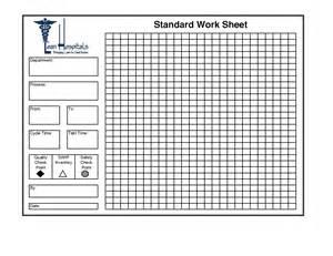 Standard Work Sheet Excel Template