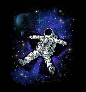 night, dark, astronaut, stars, universe - image #479833 on ...