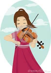 Girl Playing Violin Clip Art