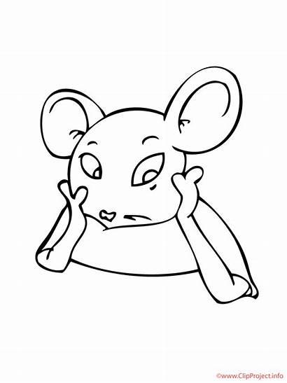 Maus Sheet Mouse Colouring Tiere Ausmalbild Coloring