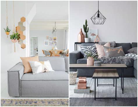 sala sofa marrom e parede cinza inspireblog lifestyle sof 225 s cinza para uma sala moderna