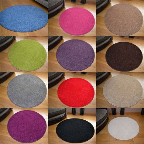 small doormat small large circle circular plain modern colours