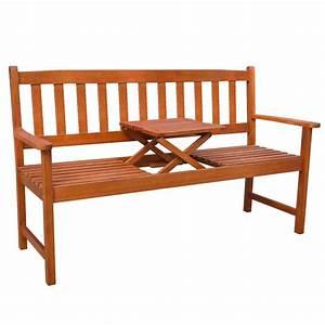 Table De Jardin Avec Banc : acheter vidaxl banc de jardin avec table escamotable bois ~ Melissatoandfro.com Idées de Décoration