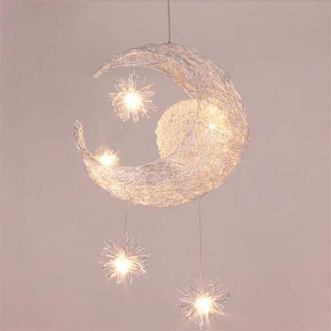 lustre pour chambre enfant suspension d 233 corative lune etoile lustre en aluminium