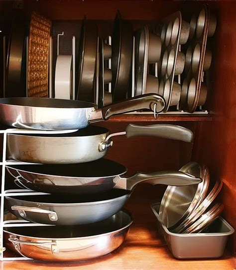 ideas for organizing kitchen cabinets 58 cool kitchen pots and lids storage ideas digsdigs